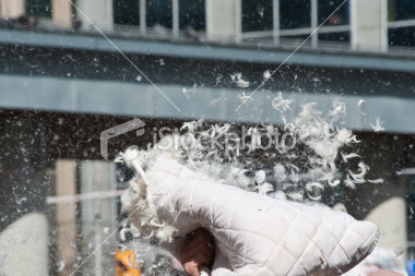 Exploding Pillow from istockphoto